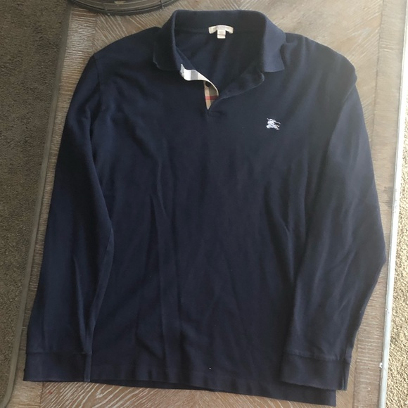 d7d394de0 Burberry Other - Men s Burberry Brit Long Sleeve polo navy blue xl